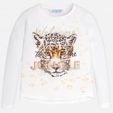 Mayoral bluza fete cu animal print 10-18 ani, Off-White