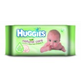Huggies Servetele umede Natural Care cu Aloe Vera 64 buc/set 0m+