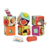 B.Toys Set 6 cuburi educative de plus ABC 3m+ 01