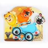 Baby Einstein Hape Friendly Safari Faces Puzzle 12m+ 01