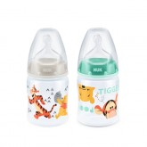 Nuk biberon First Choice 150 ml cu tetina silicon 1/M pentru 0m+ 1buc/set Disney Winnie
