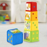 Fisher Price Cuburi de stivuit Stack&Roll Blocks 6m+