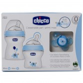 Chicco Set cadou Natural Feeling Baby`s first gift set pentru 0m+ Boy