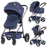 Chipolino carucior 2in1 Noah 0m+, Blue Denim 01