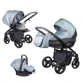 Coletto carucior 3in1 model Florino New 0m+, Blue-Black 10