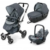 Concord carucior multifunctional 3in1 Neo Travel 0m+, Steel Grey