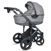 Coto Baby Quara carucior nou nascuti 3in1, Dark Grey Eco