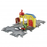 Fisher Price Thomas Take-N-Play Set sina portabila cu locomotiva Percy de la 3 ani