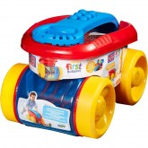 Fisher Price Mega Bloks First Builders vagon suport cuburi 12m+ Albastru