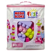 Fisher Price Mega Bloks First Builders jucarie set cuburi 12m+, 60 piese
