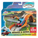 Fisher Price Set Pista cu pod Bridges & Bends de la 3 ani