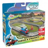 Fisher Price Set Pista cu curbe Curves & Straights de la 3 ani