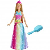 Mattel Barbie Dreamtopia Brush'n Sparkle Princess papusa 3 ani+ 01