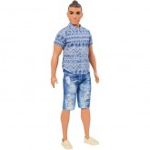 Mattel Ken Fashionistas papusa 3 ani+, Ken Distressed Denim Broad 01