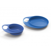 Nuvita Easy Eating set farfurie si bol, Blue