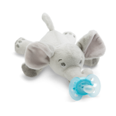 Philips Avent jucarie plus cu suzeta Ultra Soft 0m+, Elefant
