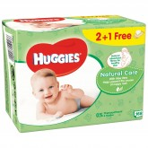 Huggies Servetele umede trio Natural Care cu aloe vera 3x56 bucati